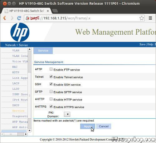 HP V1910-48G Switch Command Line Access 1