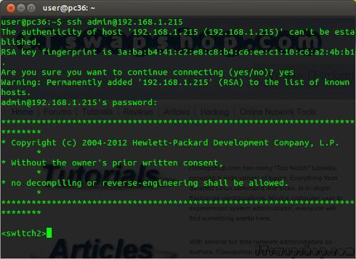 HP V1910-48G Switch Command Line Access 3