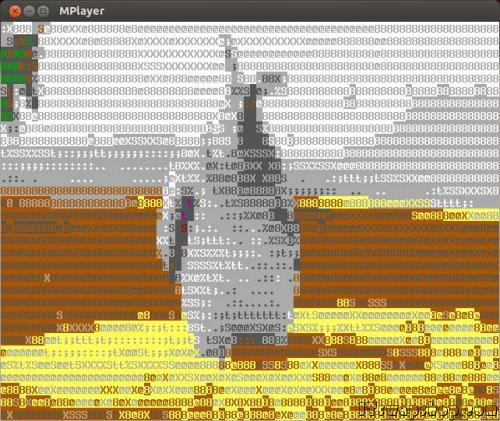 Linux - Watch Movies in ASCII Text Mode With mplayer 1